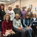 Rear, left to right: Kathy McCaffrey, Marie Cooper, Jim Curley, Carol Dunn, & Elaine Viggiano – Front, left to right: Laura Arluna, Judy Bouton, Bernadette Callanan, & Laura Maschal