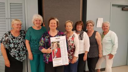 Brick Friends Officers, Jill Holland, Vicky Aufiero, Susan Gardiner, Barbara Guzzi, Marilyn Lago, and Flo Taggert.