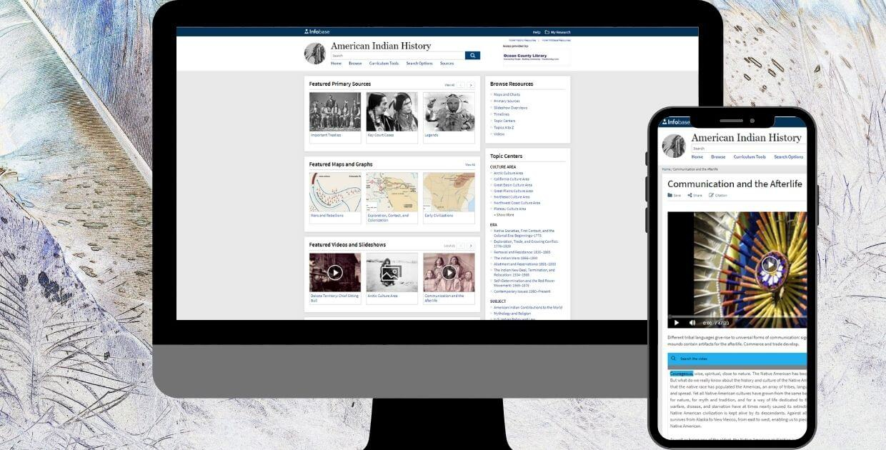 American Indian History Online (Facts on File Online) Database